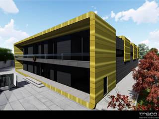 """Indústria de Calçado """"Villaggio Shoes"""": Casas  por Traço M - Arquitectura,Moderno"""