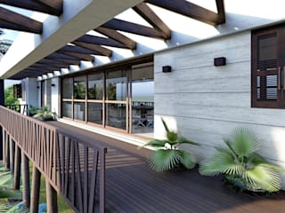 Tropical style balcony, porch & terrace by ROEDI Tropical