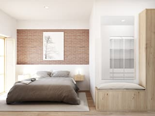 Bedroom by LaBoqueria Taller d'Arquitectura i Disseny Industrial