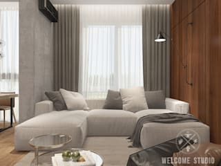 Ruang Keluarga Minimalis Oleh Мастерская дизайна Welcome Studio Minimalis