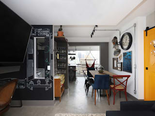 Dining room by INSIDE ARQUITETURA E DESIGN, Industrial