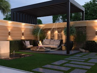 Modern Classic House Design:  Garden by Comelite Architecture, Structure and Interior Design