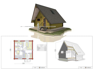 กระท่อมไม้ โดย Projectstroy, สแกนดิเนเวียน