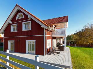 """Ökohaus """"Vättern"""" - das Holzhaus im skandinavischen Stil:  Häuser von Skan-Hus Projekt GmbH"""