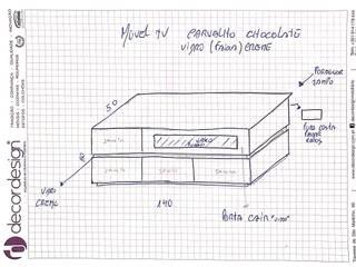 Decordesign Interiores SalasMuebles de televisión y dispositivos electrónicos Aglomerado Acabado en madera