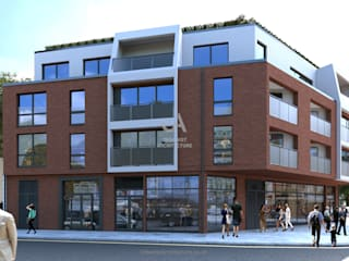 Streatham Apartments Urbanist Architecture Multi-Family house Red