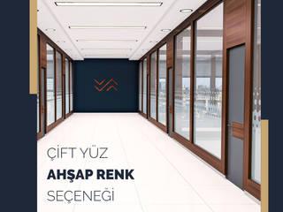 Mazze Ahşap Ofis Bölme Sistemleri – Cam Bölme: modern tarz , Modern