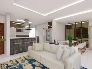 Apartamento Moderno Salas de jantar modernas por Fark Moderno