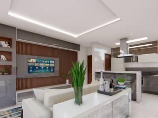 Apartamento Moderno Salas de estar modernas por Fark Moderno