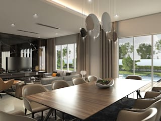 Double Storey House Oriwise Sdn Bhd Living room