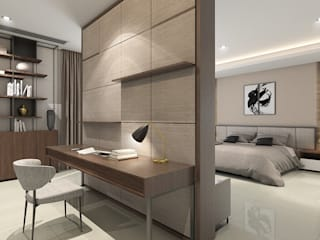 Double Storey House Oriwise Sdn Bhd Modern style bedroom