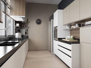 Double Storey House Oriwise Sdn Bhd Modern style kitchen