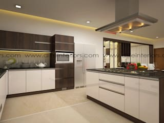 Island kitchen design by D'LIFE:   by DLIFE Home Interiors,