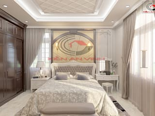 Dormitorios de estilo clásico de Cong ty thiet ke nha biet thu dep Kien An Vinh Clásico