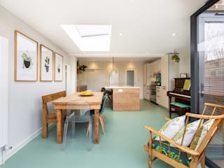 Elverson Road SE13 Lewisham | Kitchen extension Modern dining room by GOAStudio | London residential architecture Modern