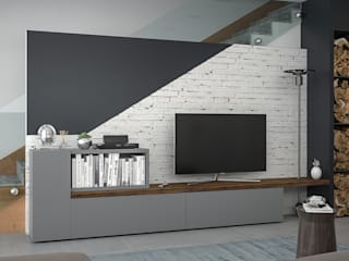 Living room by Santoro Design Render, Industrial