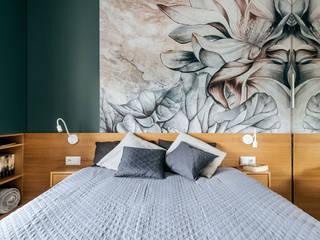 Sypialnia w toni morskiej: styl , w kategorii  zaprojektowany przez buKadesign pracownia projektowa