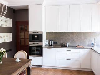 Klasyczna kuchnia w Ropczycach: styl , w kategorii  zaprojektowany przez buKadesign pracownia projektowa