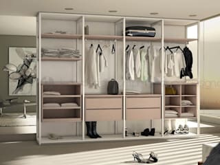 Decordesign Interiores BedroomWardrobes & closets Chipboard White