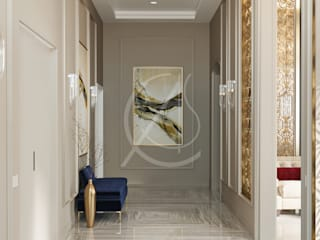 Modern Classic House Interior Design:  Corridor & hallway by Comelite Architecture, Structure and Interior Design