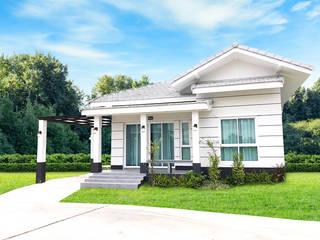 สร้างบ้านตัวอย่าง โดย บริษัท บ้านระเบียงขาว จำกัด โคโลเนียล