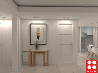 Vivienda Unifamiliar: Pasillos y recibidores de estilo  por Heim Arquitectura Interior