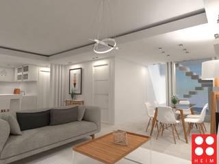 Vivienda Unifamiliar: Livings de estilo  por Heim Arquitectura Interior