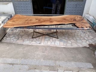Hira wood  – Walnut Epoxy Resin Table Made In Turkey : modern tarz , Modern