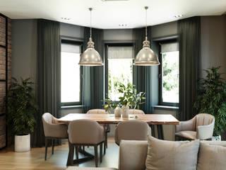 Дом в современном стиле Гостиная в стиле лофт от Сапрыкина Светлана Дизайнер Интерьеров Лофт