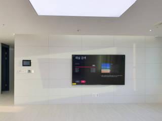 Salas / recibidores de estilo  por 디자인모리, Moderno Azulejos