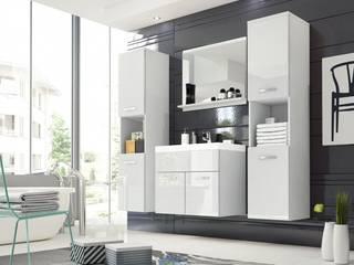 Nowoczesne meble łazienkowe - białe MONTREAL XL od Meble Minio Nowoczesny