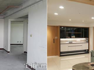Salas de estilo moderno de 宇拓室內設計 Moderno