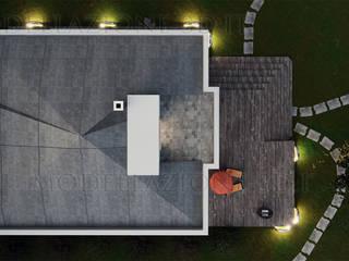 Villa con giardino Case moderne di Alessandro Chessa Moderno