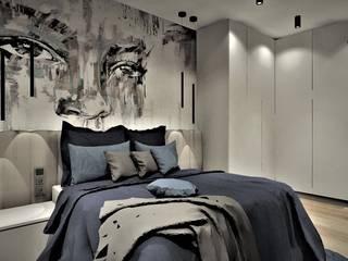 Sypialnia w Apartamencie na wynajem Wkwadrat Architekt Wnętrz Toruń Małe sypialnie Drewno Biały