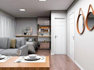 Stúdio Moderno e Prático: Salas de jantar  por Projeto 3D Online