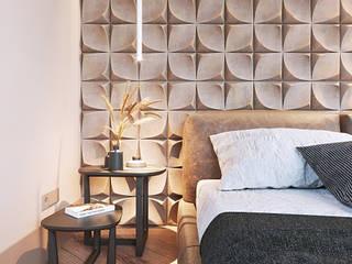 Студия Дизайна Виктории Королевой Minimalistische Schlafzimmer Beige