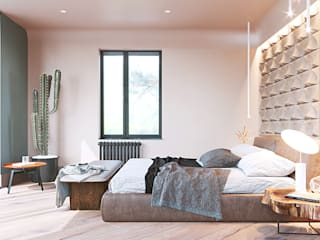Dormitorios de estilo minimalista de Студия Дизайна Виктории Королевой Minimalista