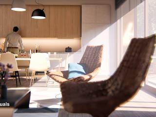Portafolio Livings de estilo moderno de GOOD visuals Moderno
