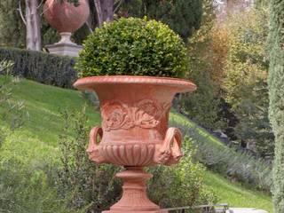 Giardino all'italiana VillaDorica GiardinoFioriere & Vasi Pietra Arancio