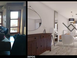 Apartment Revive: Salas de estar  por BM ARQUITETOS,