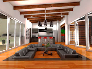 Modern living room by Dima Arquitectos s.a.s Modern