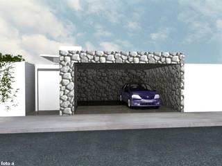 Summa - Soluções em Arquitetura ประตูโรงรถ หิน Grey