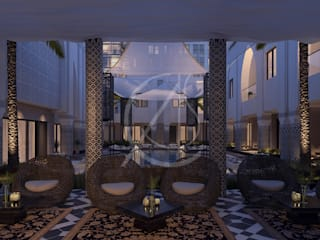 Aswar Hotel - Modern Moroccan Hotel Design:  Garden by Comelite Architecture, Structure and Interior Design