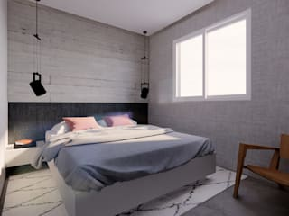 Minimalist Yatak Odası Saulo Magno Arquiteto Minimalist Beton