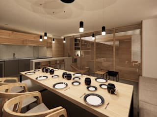 Minimalist Yemek Odası Saulo Magno Arquiteto Minimalist Ahşap Ahşap rengi