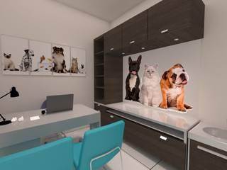 Veterinaria PetLand: Clínicas de estilo  por Dima Arquitectos s.a.s