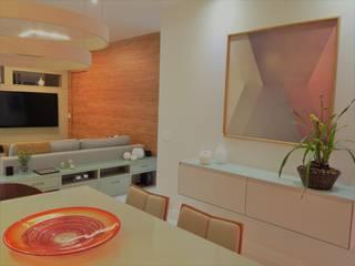 Modernidade integrada: Salas de jantar  por Izabella Biancardine Interiores,Moderno