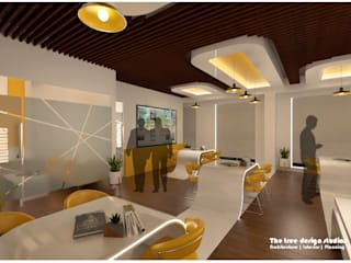 RIS Realestate office,Chennai:  Offices & stores by The tree design studios,