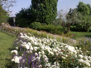 Parco privato a Grumello : Giardino anteriore in stile  di arch. Angela Mosciarelli