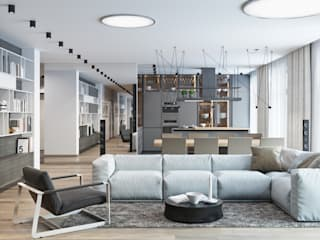 Salones minimalistas de nadine buslaeva interior design Minimalista